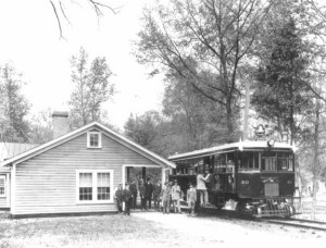 Trolley station at Great Falls Park, circa 1910