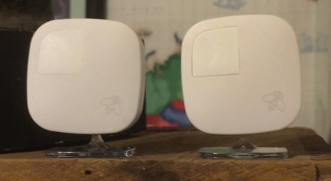 A pair of Ecobee sensors in one room
